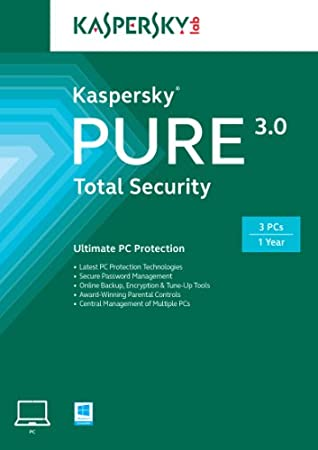 Kaspersky Pure 3.0 Total Security | 3 Devices, 1 Year | Online Code