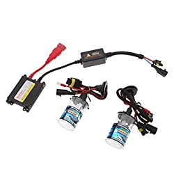 See MK- 12V 35W H4L Xenon Low Beam/Halogen High Beam HID Lamp Conversion Kit Set (AC 12V Slim Ballast) , Purple Details