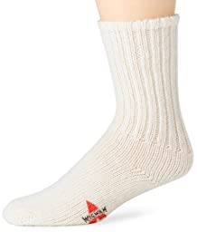 Wigwam Men\'s Husky Stretch Wool Classic Athletic Socks, White, Large