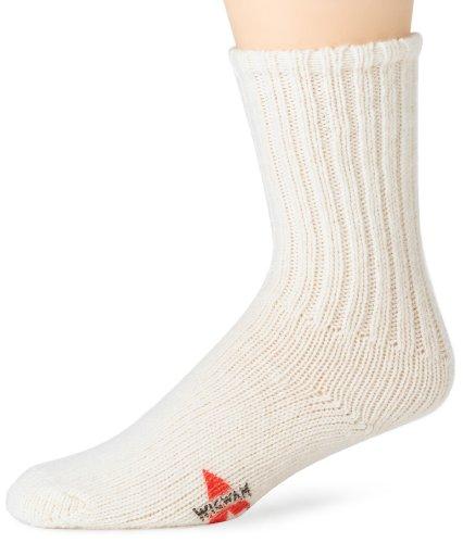 Wigwam Men's Husky Stretch Wool Classic Athletic Socks, White, Large