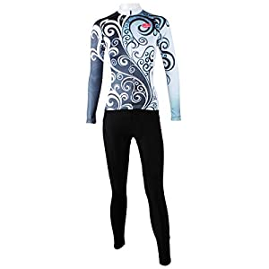 Women's Long Sleeve Cycling Jersey - Classic grey flower