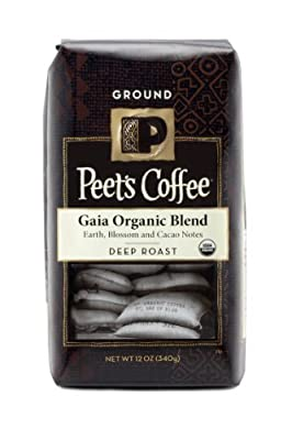 Peet's Coffee, Gaia Blend Whole Bean Coffee, 12oz Bag (Pack of 2)
