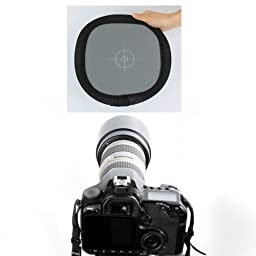 Neewer Grey/White Balance Card Two Sides Double Face Focus Board for Photograph Shoot (30cm/12\