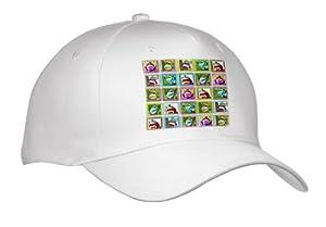 Lee Hiller Designs Colorful Sock Monkeys - Colorful Sock Monkeys Squares III - Caps