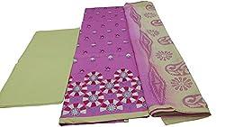 Alankar textiles Pink Cotton Dress Material