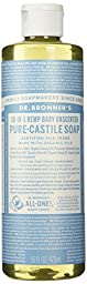 Dr. Bronner\'s Fair Trade & Organic Castile Liquid Soap - (Unscented, 16 oz)