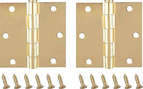 MINTCRAFT BH-202SB3L Hinge Corner, 3.5X3.5-Inch, Satin Brass, 6-Pack