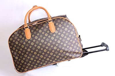 Monogram Luggage wheeled trolley/cabin baggage/ shopping trolley bag