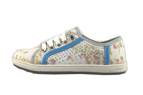 LAURA BIAGIOTTI sneakers bambina multicolor tela strass AH986 (31 EU)