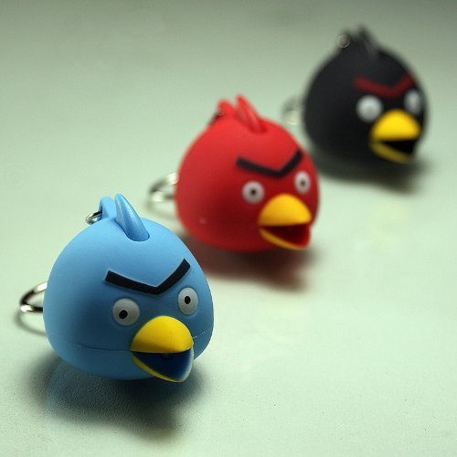 Wholesale Lot Of 12 - Angry Birds Led Keychains With Sound