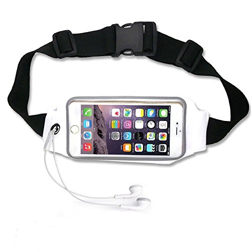 Running Waist Belt Pouch Case fit iPhone 6, 6S 6 Plus, Samsung Galaxy S5, S6, S6 Edge, S7, Note 4,5, LG G3 vigor,G4, Adela Shop Zipper Pockets Water Resistant Expandable Runners Waist Belt Bag
