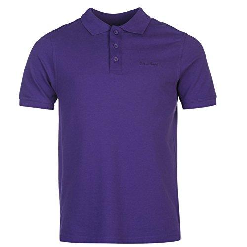 Pierre Cardin Plain Polo da uomo viola top t-shirt tee, Purple, L
