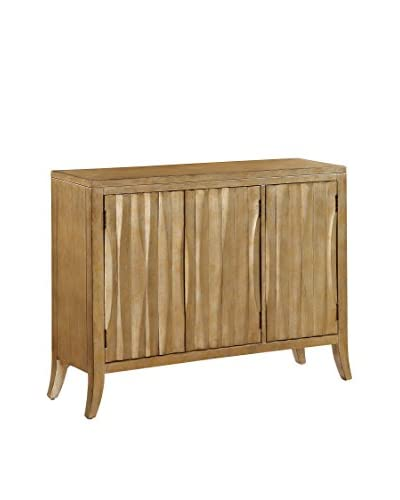 Coast to Coast Contemporary 3-Door Cabinet, Gold
