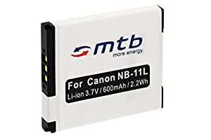 Batterie NB-11L pour Canon IXUS 125 HS, 127 HS, 132, 133, 135, 140, 240 HS