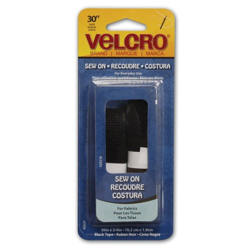 "Sale!! Velcro Brand Sew-On Tape 3/4""X30""-Black"