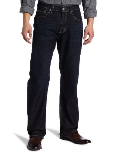 Calvin Klein Jeans Men's Burnished Straight Jean, Intense Blue, 34x32
