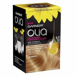 Garnier Olia Oil Powered Permanent Haircolor Medium Golden Blonde 8.31 (Pack of 3) (Hair Color Olia compare prices)