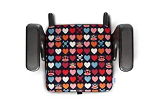 Clek Jacket Booster Seat Cover for Ozzi and Olli, Julius Hearts Me (Discontinued by Manufacturer)