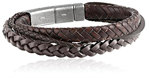 Fossil Fossil Men's Brown Multi-Wrap Bracelet