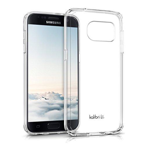 kalibri-Crystal-Case-Hlle-Sunny-fr-Samsung-Galaxy-S7-transparente-Kunststoff-Schutzhlle-mit-TPU-Silikon-Rahmen-in-Transparent