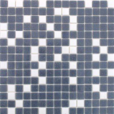 Mosaikfliesen Glasmosaik Dunkelgrau Weiss Mix Mosaik 2x2cm
