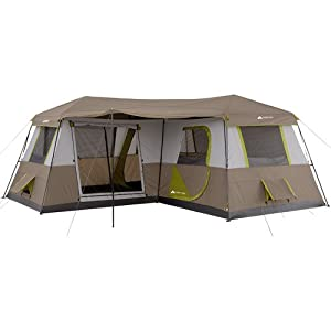 Buy 12 Person Family Camping Outdoor Instant Cabin Tent w BONUS 4 Chair Bundle by Ozark Trail