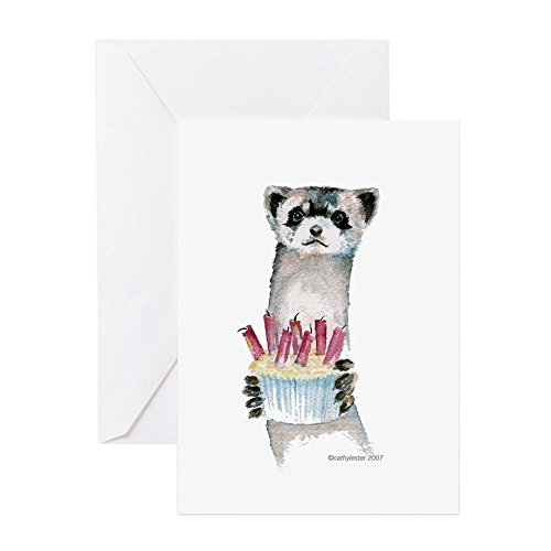 CafePress - Birthday Ferret - Greeting Card, Note Card with Blank Inside, Birthday Card or Special Occasion Matte