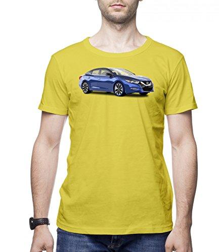 blue-nissan-maxima-car-mens-classic-crew-neck-t-shirt-gelb-large