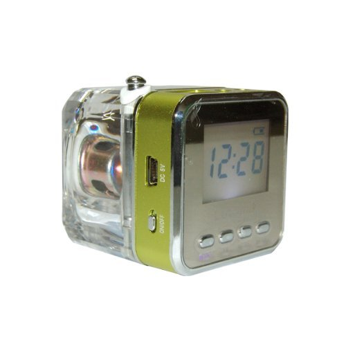 Lutema WaveCube Aqua Portable Digital Speaker w/FM Radio - Green lutema wavecube aqua portable digital speaker w fm radio green