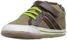 Robeez Logan High Top Hard Sole Mini Shoe (Infant), Natural, 9-12 Months M US