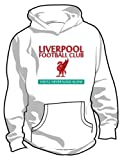 Liverpool FC Basic Logo Soccer Hoodie, Adult Medium - White