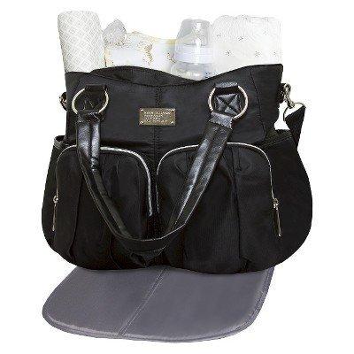 Wendy Bellissimo Shirred Pocket Tote Diaper Bag - Black - 1