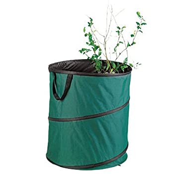 Shanghai Worth Garden Products Green Thumb 6072 Pop Up Yard/Lawn Refuse Container, 60-Gallon