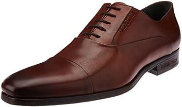 CR7 Cristiano Ronaldo Men's Tango Metal Blake Oxford Camel Leather Formal Shoes - 9.5 UK (01.05.01.06.01.01)