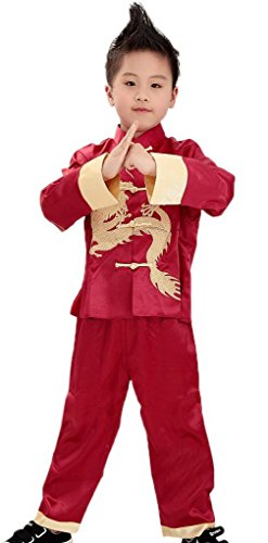 Bigood Performance Outfit Kung Fu Long Sleeve Suits Martial Boys
