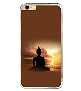 Fuson Premium Bhuddh Bhagwan Metal Printed with Hard Plastic Back Case Cover for Apple iPhone 6