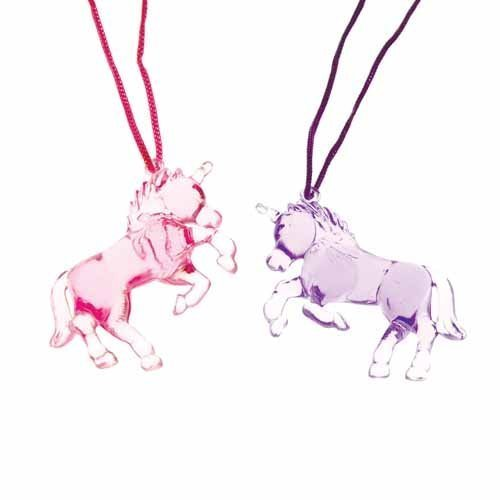Unicorn Necklace Assorted Colors - 1 each (Colors Will Vary) - 1