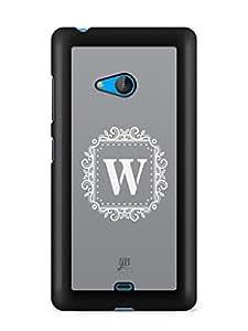 YuBingo Monogram with Beautifully Written letter W Designer Mobile Case Back Cover for Microsoft Lumia 540