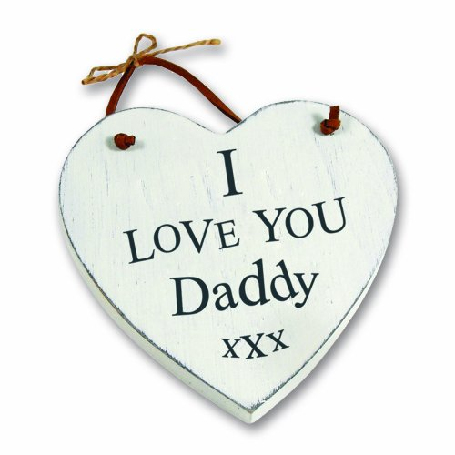 Heartwarmers I Love You Daddy Wooden Heart Keepsake Gift Hanger