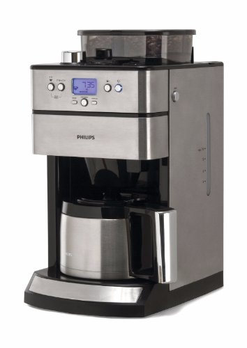 philips cafeti re programmable thermos 15 tasses avec moulin grain hd7753 caf th. Black Bedroom Furniture Sets. Home Design Ideas