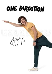 One Direction Harry Styles 1D Poster Photo Signed PP 2012 A4 Size 21cm x 29.7cm by Iconic Images