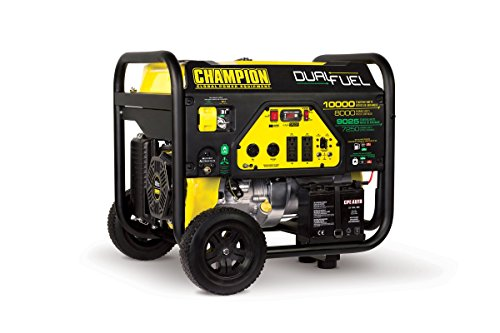 Champion Power Equipment 100297 8000 Watt Dual Fuel Portable Generator with Electric Start (Champion Generator Dual Fuel compare prices)