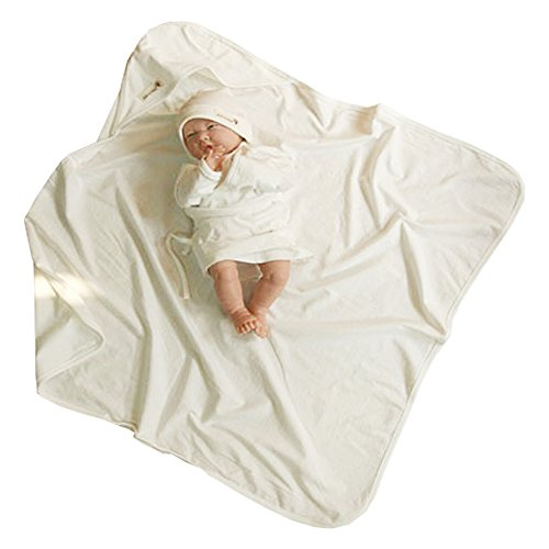 100% Organic Cotton Newborn Baby Swaddle Blanket Hooded Style (73Cm X 73Cm) front-990317