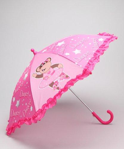 Girl's Dancing Princess Ballerina Pink Rain Umbrella