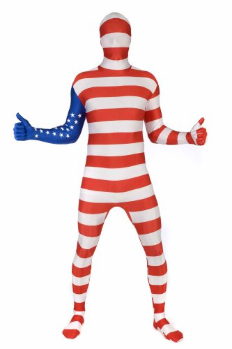 Morphsuits Morphsuit Flag USA, Red/White/Blue, XX-Large