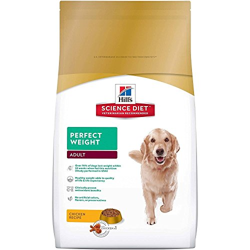 Hill's Science Diet Adult Perfect Weight Chicken Recipe Dry Dog Food, 4 lb bag (Back To Basic Dry Dog Food compare prices)