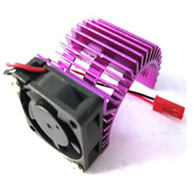 Zcl Hsp 7014 Electric Motor Heatsink Proof Cover Heat Sink And Cooling Fan Metal For 540 550 Motor Rc Model Car , Purple