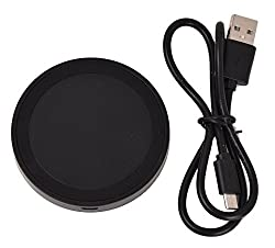 "KARPâ""¢ Wireless Round Circle Mini Charging Pad For Samsung Galaxy S6/S6 Edge, Nokia Lumia, Google Nexus, HTC, LG, SHARP And Other Qi-Compliant Devices (Black On Black)"