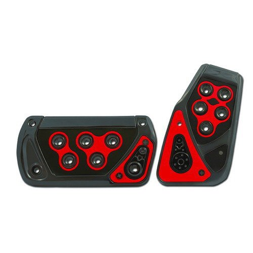 Pedal Covers, Universal Racing Pedal Pad For Automatic Transmission (Red) (Automatic Transmission Pedals compare prices)