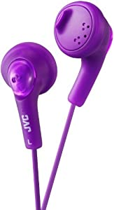 JVC GUMY In-Ear Audio Headphones for iPod, iPhone, MP3 and Smartphone - Purple
